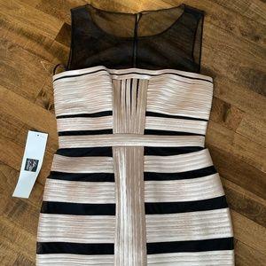 NWT BCBG Black/Champagne Bandage Dress